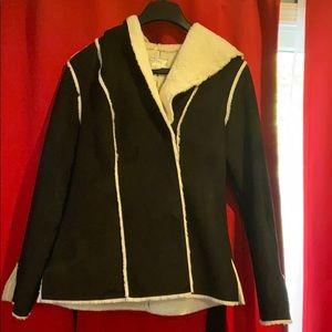 White House/Black Market black and white jacket.